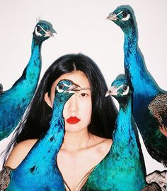 The work of controversial Chinese photographer Ren Hang is on view at Los Angeles MAMA Gallery through August. The work of controversial Chinese photographer Ren Hang is on view at Los Angeles MAMA Gallery through August. Ren Hang, Portrait Photography, Fashion Photography, Inspiration Artistique, Portraits, Looks Cool, Photo Art, Silhouette, Drawing