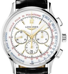 Longines Asthmometer-Pulsometer Chronograph L2.787.4.16.2