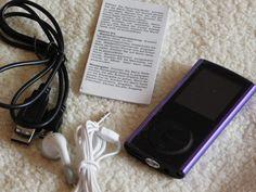 L.D Generation MP3 / MP4-Player 16 GB 1,8-Zoll-LCD-Kristall-Faceted Schirm mit Micro-SD-Kartensteckplatz (Purple) :: Manu testet und…