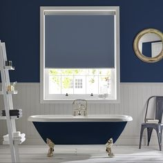 Palette Denim bathroom roller blind