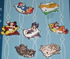 WDW Complete Set of Characters Sleeping Collection  - 2012 Hidden Mickey Pins