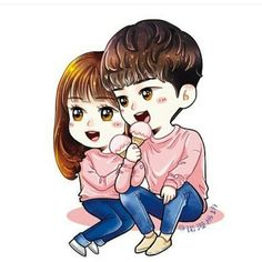 Guess your favorite kdrama with their anime 😍😍 Pt 2 . Love Cartoon Couple, Cute Cartoon Pictures, Chibi Couple, Cute Love Cartoons, Cute Love Couple, Anime Love Couple, Couple Pics, Cute Couple Drawings, Cute Drawings