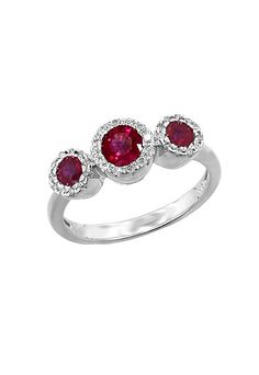 DESIGNER: EFFY JEWELRY SEE DETAILS HERE: Effy Jewelry Gemma Ruby and Diamond Ring, 0.98 TCW