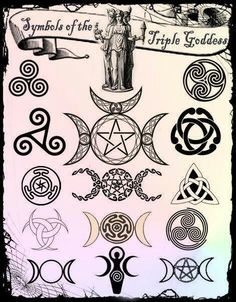 Most popular tags for this image include: wicca, pagan, triple goddess and witch Goddess Symbols, Pagan Symbols, Triple Goddess Symbol, Celtic Mythology, Viking Symbols, Egyptian Symbols, Viking Runes, Ancient Symbols, Triple Moon Goddess