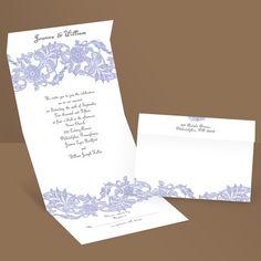 Vintage Lace - Hydrangea - Seal and Send Wedding Invitation possibility?