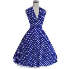 2013 New Fashion Women Dress 100%Cotton 60S 50S Vintage Dress Swing Party Retro Rockabilly Polka dot Dress JD14(China (Mainland))