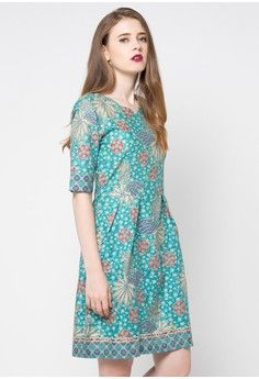Dress Kelyn from Rianty Batik in green