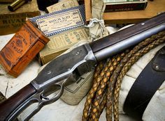 The date stamped on this historic lever action shotgun from the American west is The gun used brass shells which were reloaded. Lucky Horseshoe, Lever Action, Sports Photos, Shotgun, Hand Guns, Shells, Brass, Antiques, Rodeo