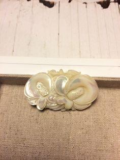 Vintage Mother of Pearl Brooch by GabsAndLolaJewellery on Etsy https://www.etsy.com/ca/listing/479576170/vintage-mother-of-pearl-brooch