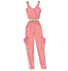 McCall& 6362 : Misses& Jumpsuits in Two Lengths . Dress Design Drawing, Dress Design Sketches, Fashion Design Sketchbook, Fashion Design Drawings, Fashion Sketches, Fashion Drawing Dresses, Fashion Illustration Dresses, Red Fashion Outfits, Fashion Figures