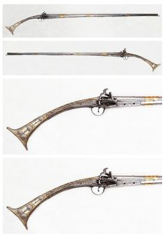 All metal stocked Albanian Tancica miquelet musket, early 19th century.