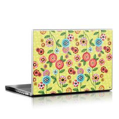 "Decal Girl - Cover your electronic device with the whimsical art of Mary Engelbreit, such as ""Button Flowers""."
