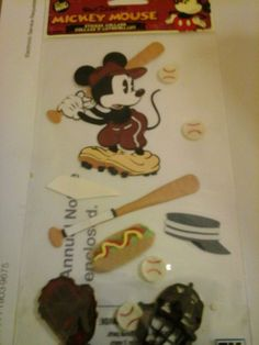 Lot 2 Packs Disney Mickey Mouse Scrapbooking  Sticker Collage #Disney