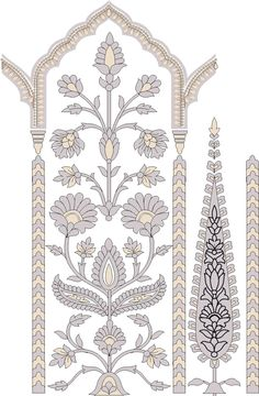 Ikat Pattern, Border Pattern, Border Design, Pattern Art, Graphic Design Art, Print Design, Islamic Art, Islamic Motifs, Pillar Design
