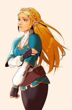 Princesa Zelda Breath of the Wild Arte The Legend Of Zelda, Legend Of Zelda Breath, Botw Zelda, Drawn Art, Zelda Twilight Princess, Bd Comics, Dibujos Cute, Video Game Art, Video Games