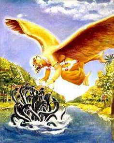 Garuda attacks Kaliya-http://krishnaseva.blogspot.ae/search?updated-min=2013-12-31T10:30:00-08:00&updated-max=2014-09-29T15:49:00%2B05:30&max-results=50&start=4&by-date=false