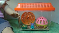 Miniature Hamster Pet Enclosure or Cage and by MidwoodMiniatures