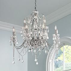 Vienna Full Spectrum Chrome and Crystal Grand Chandelier