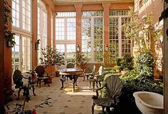 Vintage Decor | One Kings Lane - beautiful conservatory