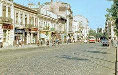 1968 str. Buzesti. Bucharest Romania, Socialism, Old City, Time Travel, Tourism, Nostalgia, Places To Visit, Street View, Memories