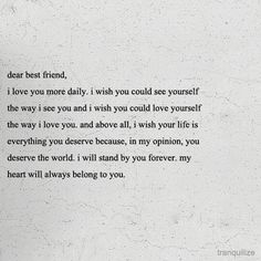 To my best friend :)