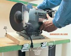 Flipup bench grinder - really like this idea
