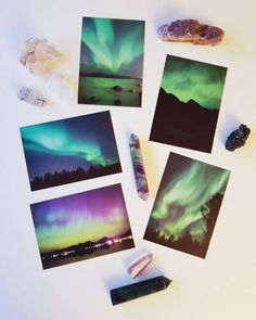 Northern lights postcards pack 5 pieces A6
