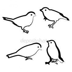 Letöltés - Vektoros rajz madarak, vázlat — Stock Illusztráció #80058454