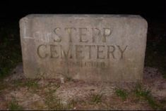 Stepp Cemetery in Indiana, known to be one of the top 10 scariest places in America. Originally founded by a cult, it has numerous hauntings including a woman who took her own life after digging up her dead baby.