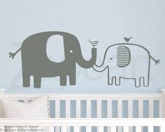 Cute baby elephant nursery wall decals   #elephantwalldecal #nursery