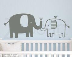 Cute baby elephant nursery wall decals   #elephantwalldecal #nursery