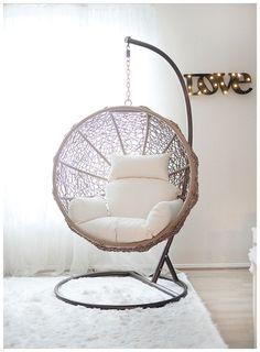 Hanging Swing Chair for Bedroom. Hanging Swing Chair for Bedroom. Indoor Swing Chairs Inspirations for Your Home Decor Hanging Swing Chair, Swinging Chair, Swing Chairs, Indoor Hanging Chairs, Bedroom Swing Chair, Indoor Hammock Chair, Patio Swing, Outdoor Swing Chair, Outdoor Dining