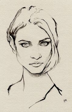 ink painting--Anna Selezneva by ler huang, via Behance                                                                                                                                                      More