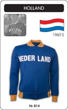 Nederland voetbal jack jaren '60 Holland retro voetbal truitje football soccer vintage sport COPA
