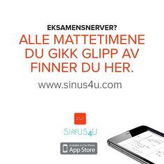@sinus4u #matematikk #eksamen #videregående #eksamensnerver