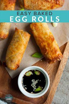 Egg Rolls Baked, Healthy Egg Rolls, Oven Baked Eggs, Shrimp Egg Rolls, Vegetable Egg Rolls, Pork Egg Rolls, Chicken Egg Rolls, Vegetarian Egg Rolls, Veggie Rolls
