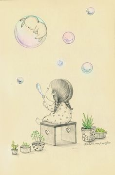 A Girl and Her Pet Rabbit: Drawings by Coniglio