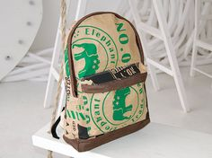 Eco backpack brown backpack travel backpack unisex backpack vegan backpack yoga bag elephant kraft paper backpack satchel one of a kind bag Best Travel Luggage, Kids Luggage, Luggage Bags, Satchel Backpack, Travel Backpack, Travel Bags, Baby Backpack, Unique Backpacks, Brown Backpacks