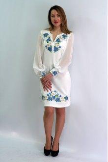 Сукня «Волошкові мрії» молочного кольору – з орнаментом 34bbfbb9282d9