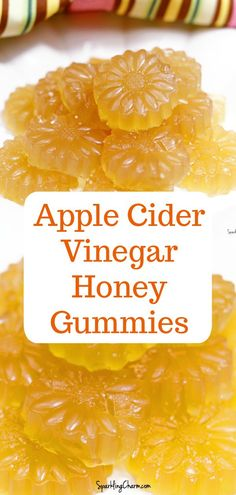 Apple Cider Vinegar Honey Gummies. Avoid the squish face and get all the benefits of Apple Cider Vinegar. Try this easy recipe! #applecidervinegar #gummies #apples #goodforyou #anappleaday #healthythings #apples