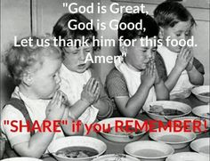 We always said this before every meal