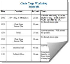 Chair Yoga Workshop Kit