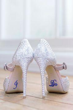 Wedding Shoes - Santa Monica California Wedding http://caratsandcake.com/jenniferandrew
