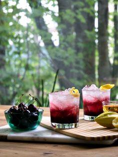 2 Summer Refresher Cocktail Recipes - Sparkling Cherry Bourbon | amidlifewife.com