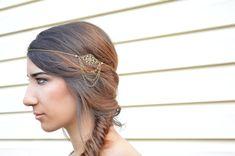 BACK ORDERED // Filigree Head Piece // Headdress // Bohemian Head Accessory // Headband //  Hair Accessory // Boho Head Chain