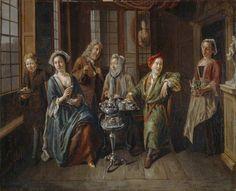 """""""A Tea Party"""", Joseph van Aken, 1719-1721; MCG 1979.537"""