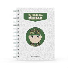 Cuaderno - Las notas del militar, encuentra este producto en nuestra tienda online y personalízalo con un nombre. Notebook, Marketing, Notebooks, Day Planners, Military, The Notebook, Exercise Book