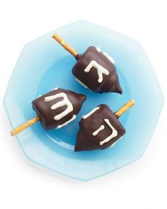 Edible Marshmallow Chocolate Dreidels