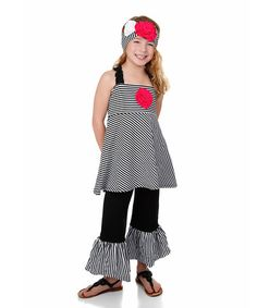 Loving this Black & White Harber Pixie Top & Pants - Infant, Toddler & Girls on #zulily! #zulilyfinds