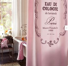 girly pink shower curtain if anyone knows where i can get this pleasssse tell me